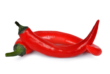 spicey: Red hot chili peppers isolated on white background