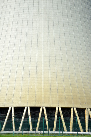 temelin: Closeup of the cooling tower of the nuclear power plant Temelin - Czech Republic Stock Photo