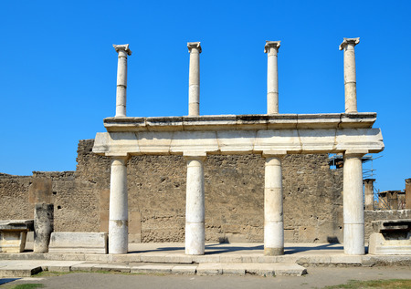 catastrophic: Ancient Roman city of Pompeii, Italy.