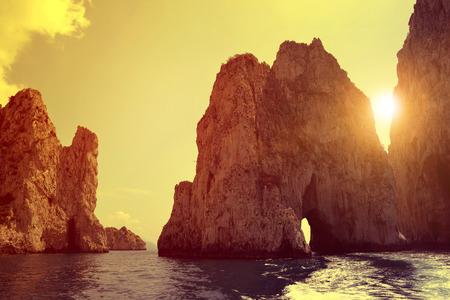 sorrento: Faraglioni Cliffs in Capri - Italy, Europe