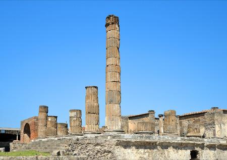 Ancient Roman city of Pompeii, Italy.