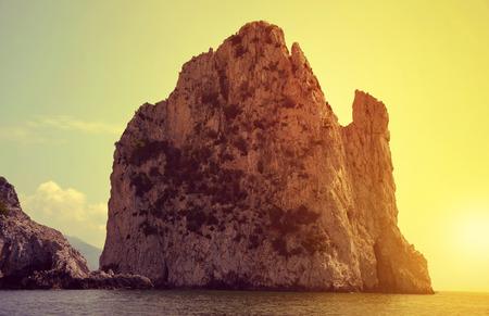 capri: Faraglioni Cliffs in island Capri - Italy, Europe