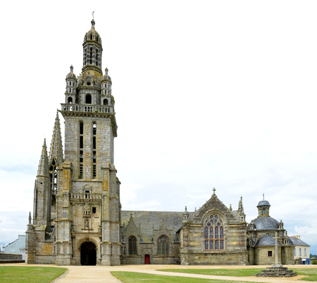 The parish church in Pleyben, Brittany, Northen France.