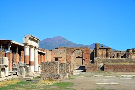 Alte Stadt von Pompeji, Italien. Römische Stadt durch Vesuv Vulkan zerstört.