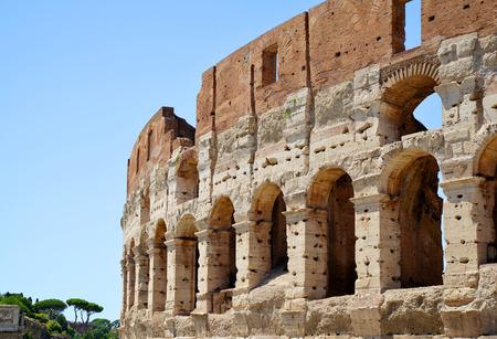 Flavian Amphitheatre or Colosseum in Rome, Italy.