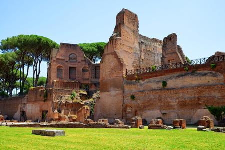 Ancient roman ruins at the Palatine Hill, Rome, Italy. Stock Photo