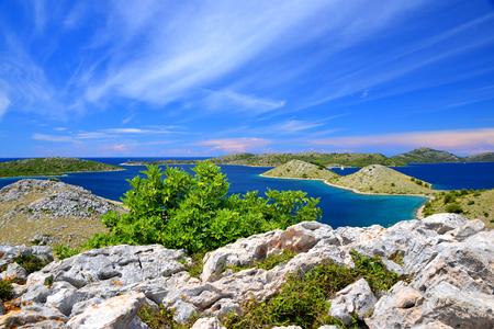 Kornati islands national park landscape in the Adriatic sea.Croatia. 版權商用圖片