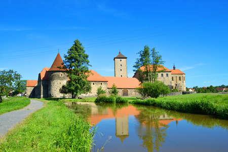 SVIHOV, CZECH REPUBLIC - AUGUST 20, 2020: Water Castle of Svihov in the Pilsen Region, Czech Republic, Europe.