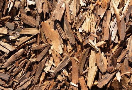 Tree bark splinters close up as background. Stockfoto