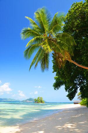 Anse Union beach in La Digue Island, Indian Ocean, Seychelles.