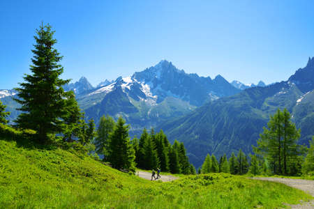 Mountain landscape in the Nature Reserve Aiguilles Rouges, Graian Alps, France, Europe. Stockfoto