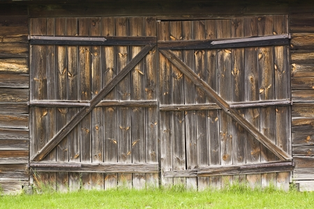 large doors: big old wooden gate to the barn