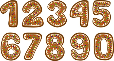 gingerbread numbers Vector