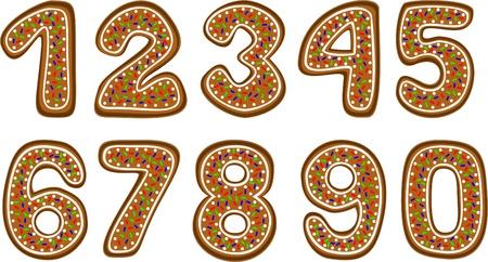 gingerbread cookies: gingerbread numbers