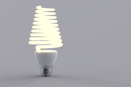 Energy saving light bulb close up in studio Stock Photo - 12906165