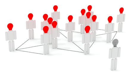 Business concepts illustrated - networking, organizational groups, or workgroups  Stock Photo