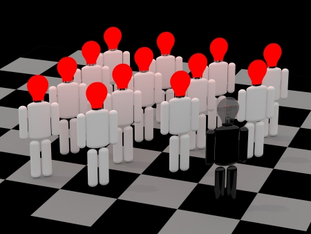dominance: Unity is strength - partnership and teamwork concept 3d illustration