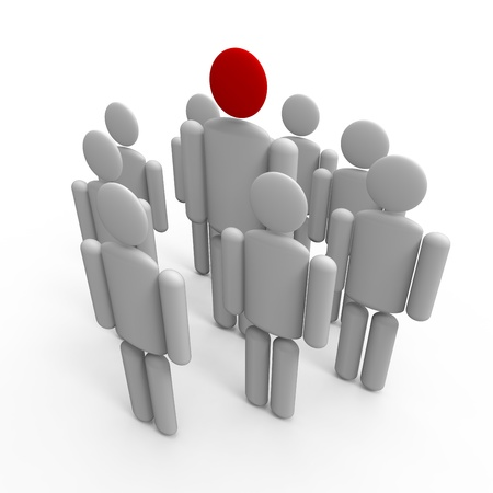 Man figures depicting leadership and teamwork concept. Stock Photo