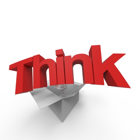 Concept of  think outside the box  Stock Photo - 17425452