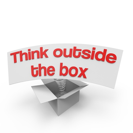 Think outside the box VI Stock Photo