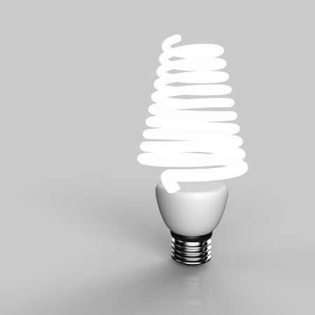 Energy saving light bulb close up in studio Stock Photo - 19093372