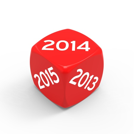New year 2014 isolated on white background.