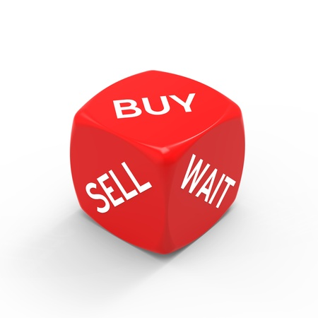 Buy or sell - how to make the right decision. Stock Photo