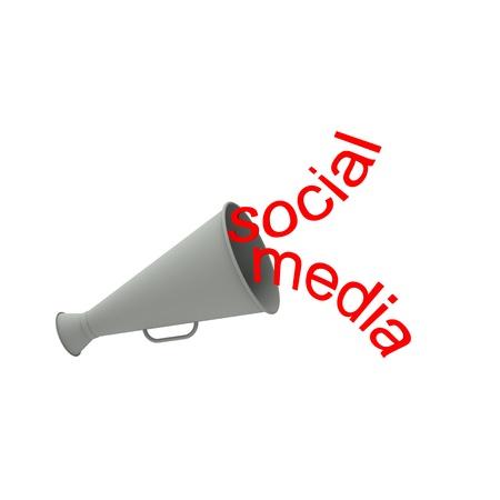horn like: Abstract background design, represent social media.