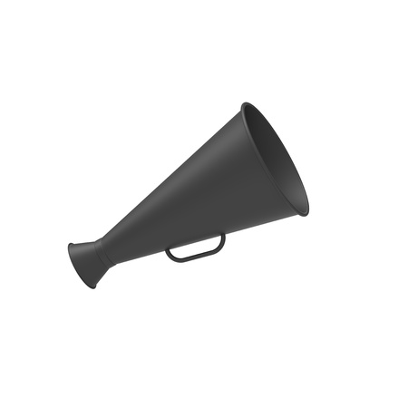 speaking trumpet: Creativity concept with speaking trumpet in 3d. Stock Photo