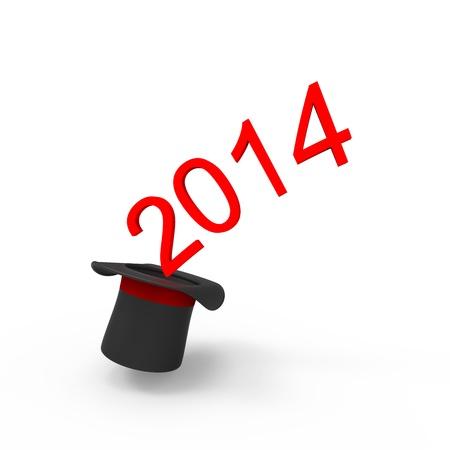 New year 2014 isolated on white background. Stock Photo - 20068186