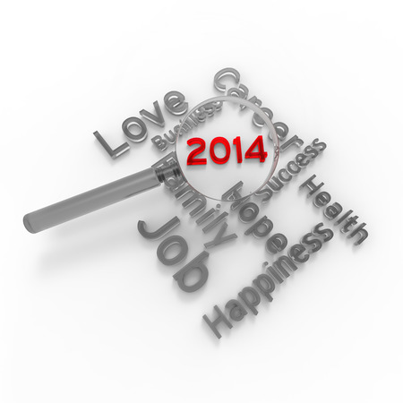 New year 2014. Concept for decision-making.