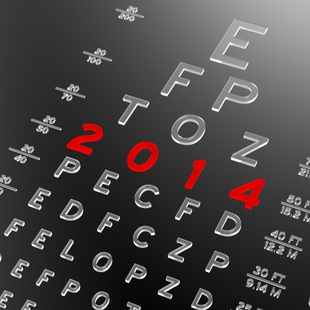 Abstract eye chart design. New year concept. photo