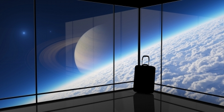 spaceport: Abstract vision of space travel.