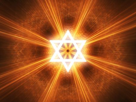 Judaism religious symbol - Star of David. Imagens