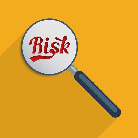 minimization: Concept for risk analysis and risk management. Flat design illustration.