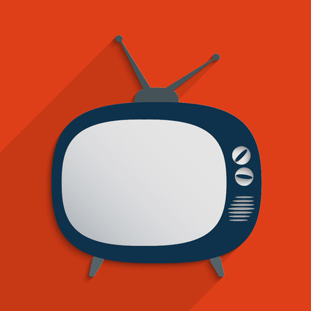 televisor: Retro TV blank template. Flat design illustration. Stock Photo