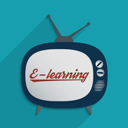 Concept for e-learning, global communication and self education. Flat design illustration. illustration