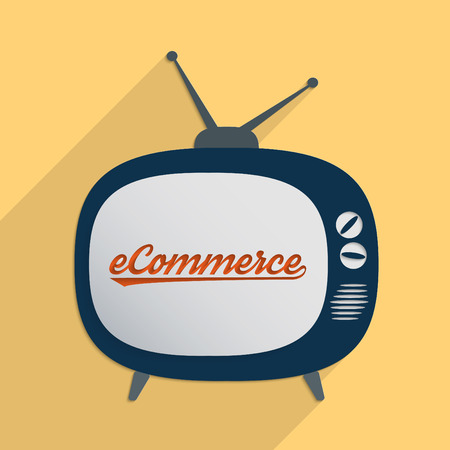 Concept for e-commerce, virtual economy and new opportunities  Flat design illustration