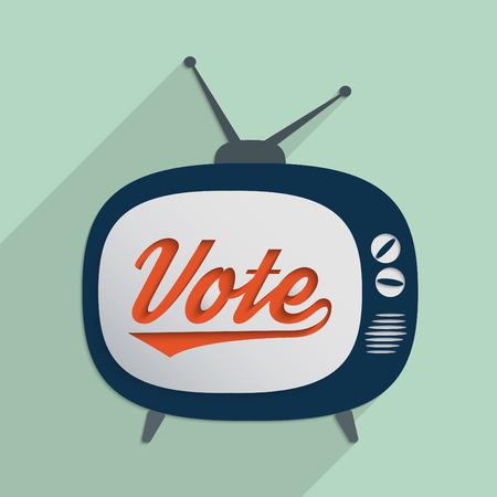 political system: Concepto de los derechos de voto, el sistema pol�tico, los medios de comunicaci�n y la manipulaci�n de la verdad Dise�o plano ilustraci�n