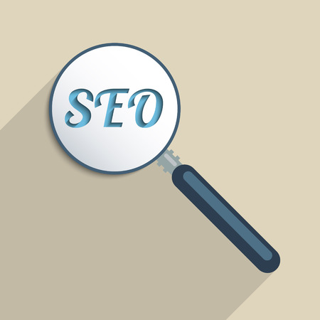 Concept for Search Engine Optimization, Digital Revolution and quick access to information. Flat design illustration. Vector