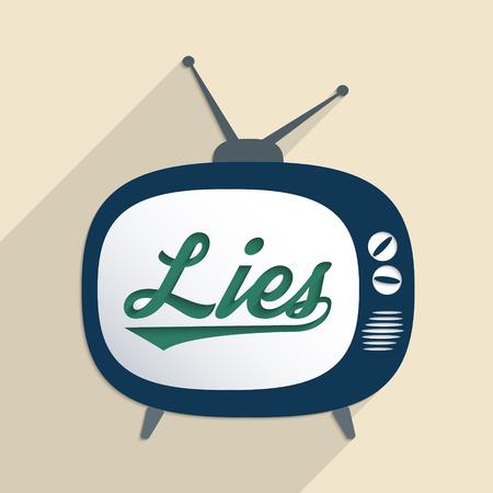 Concetto per mass media, disinformazione, propaganda e la sicurezza delle informazioni. Appartamento design illustrazione. Vettoriali
