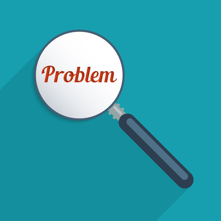 finding: Concept for finding solutions, problem solving and creativity. Flat design illustration.