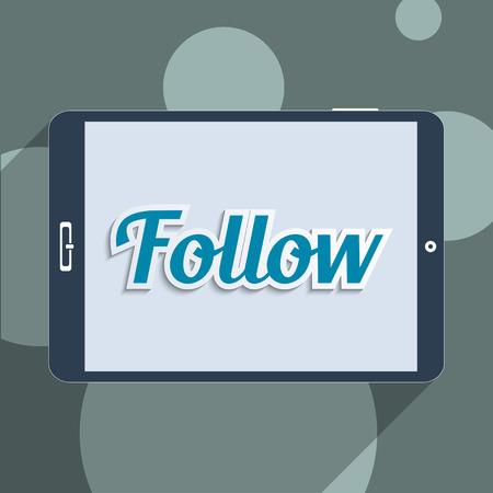 Concept for social network and social media. Flat design illustration. Stock Photo
