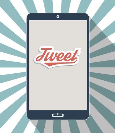Concept for social network and social media. Flat design illustration. Illustration