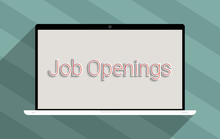 job hunting: Concept for employment,  job searching and unemployment. Flat design illustration.