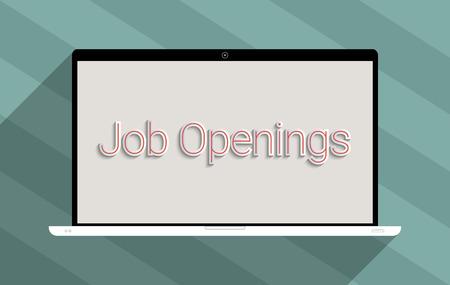 unemployment: Concepto para el empleo, b�squeda de empleo y el desempleo. Ilustraci�n Dise�o plano.