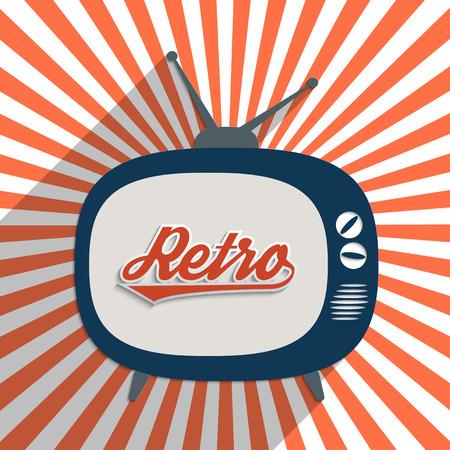 vintage look: Vintage background with word Retro. Flat design illustration. Illustration