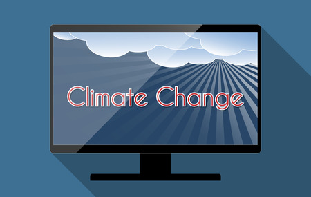 climate change: Concept for climate change and global warming. Flat design illustration. Stock Photo