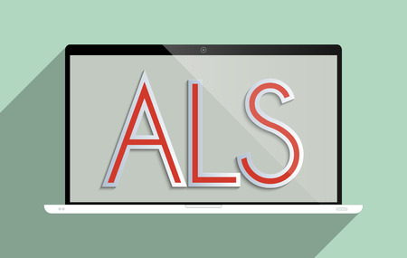 als: Concept for ALS - Amyotrophic lateral sclerosis, ideas that work, charity and how important is to encourage donations for research. Stock Photo