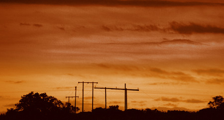 Power line near Port Alfred South Africa.